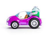 Purple soda car — Stock Photo