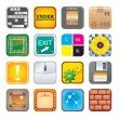 Stok Vektör: Apps icon set five