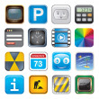 Apps icon set three — Imagen vectorial