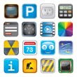 Apps icon set three — Stockvectorbeeld