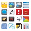 Apps icon set four — Stockvectorbeeld