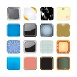 Stock Vector: App icons background