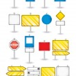 Set of road signs — Stock Vector