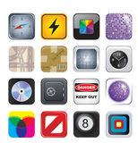 Icono de aplicaciones establece dos — Vector de stock