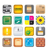 Apps icon set five — Stock Vector