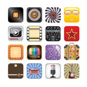 Retro app icons — Stock Vector