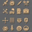 Stock Photo: Car set of icons