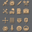 Car set of icons — Stock Photo