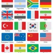 Flags set — Stock Photo #21287497