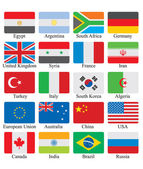 Flags set — Stock Photo