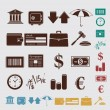 Stock Vector: Finance set