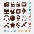 Network icons set — Stock Vector