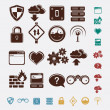 Set of network icons — Stock Vector