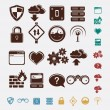 Set of network icons — Stock Vector #21964849
