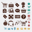 Stock Vector: Shopping set of icons