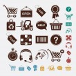 Royalty-Free Stock Vector Image: Shopping set of icons