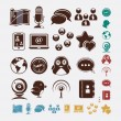 Social set of icons — Stock Vector