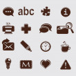 Web set icons on grey - Stock Vector