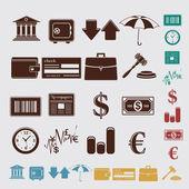 Finance set — Stock Vector