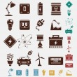 Electric power icon set — Image vectorielle