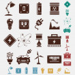 Electric power icon set — Stock Vector