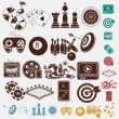 Game and hobby icons — Stock Vector