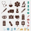 Medical set of icons — Stock Vector