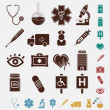 Stock Vector: Medical set of icons