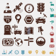 Navigation set of icons — Stock Vector