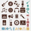 Set of music icons — Vector de stock