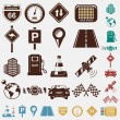 Stok Vektör: Road icon set