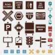 Set of road icons — Stock Vector