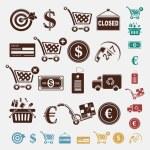 Shopping set — Stock Vector