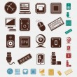 Technology set of icons — Stock Vector