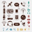 Set of wireless icons in five colors — Stockvectorbeeld