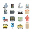 Town icons — Stock Vector #29275131