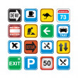 Signs app icons — Stock Vector
