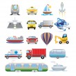 Transportation icon set — Stock Vector #32548219