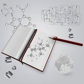 Scientific book — Stock Photo
