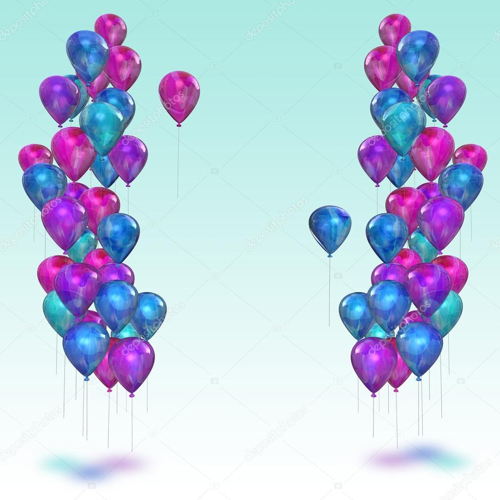 Sfondo con palloncini colorati foto stock ellerslie - Immagine con palloncini ...