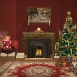 Lovely christmas room — Stock Photo