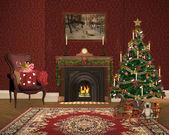 Lovely christmas room — Stock Photo