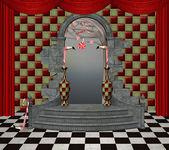 Wonderland series - wonderland hall — Stock Photo