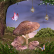 Enchanted nature series - magic mushrooms   — Stock Photo