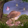 Enchanted nature series - magic mushrooms — Foto de stock #13644667