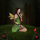 Green nymph — Stock Photo