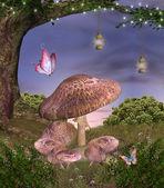 Série de nature enchantée - champignons magiques — Photo