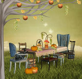 Autumnal banquet — Stock Photo