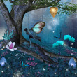 Постер, плакат: Enchanted nature series enchanted tree in the middle of the forest