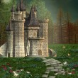 Stock Photo: Fairy tale castle